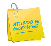 Attitude is everything post message Royalty Free Stock Photo
