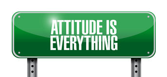 Attitude is everything road sign concept Stock Photography