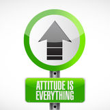 Attitude is everything road sign concept Stock Images