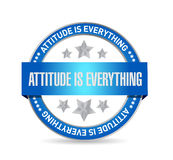 attitude is everything seal sign concept Stock Photos