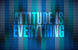 Attitude is everything sign concept Royalty Free Stock Photos
