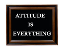 Attitude Is Everything sign Stock Photo