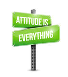 Attitude is everything street sign concept Royalty Free Stock Photography
