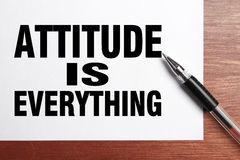 Attitude is everything Stock Photography