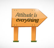 Attitude is everything wood board sign concept Royalty Free Stock Photo
