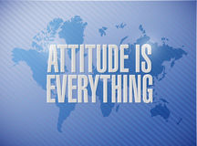 attitude is everything world sign concept Stock Images