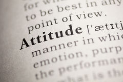 Attitude. Fake Dictionary, Dictionary definition of the word Attitude. including key descriptive words stock image