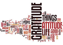 Attitude Of Gratitude Word Cloud Concept Stock Photo