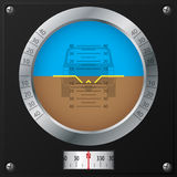 Attitude indicator design Stock Photos