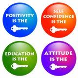 Attitude keys. Keys to positive attitude and success in life Royalty Free Stock Photography