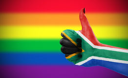 Attitude positive de la république sud-africaine pour la communauté de LGBT Photos stock