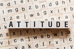 Attitude word concept on cubes.  royalty free stock photography