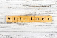 Attitude word made with wooden blocks concept.  Stock Images