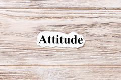 Attitude of the word on paper. concept. Words of Attitude on a wooden background.  Stock Images
