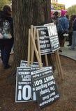 Attivismo sociale, raduno di Anti-Trump, Washington Square Park, NYC, NY, U.S.A. Fotografia Stock