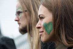 Attivisti ambientali Fotografia Stock