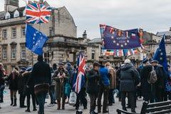 Attivisti dal bagno per Europa che fanno una campagna nel bagno, Regno Unito immagine stock