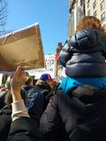 Attivisti dei bambini, marzo per le nostre vite, NYC, NY, U.S.A. Fotografia Stock