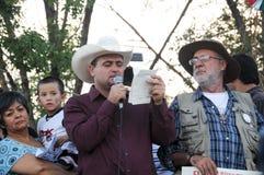 Attivisti Javier Sicilia e Lebaron julian Immagine Stock Libera da Diritti