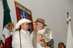 Attivisti Julian Lebaron e Javier Sicilia Fotografia Stock