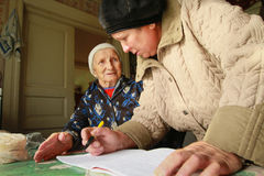 Attività al giorno internazionale delle persone più anziane Fotografia Stock Libera da Diritti