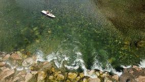 Attività all'aperto, feste di kayak Immagini Stock