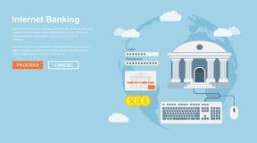 Attività bancarie del Internet Fotografie Stock Libere da Diritti
