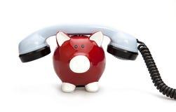 Attività bancarie del telefono Fotografie Stock