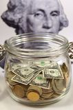 Attività bancarie del vaso fotografie stock