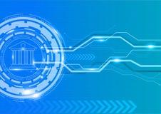 Attività bancarie di Digital con il concetto grafico dell'innovazione Fotografie Stock
