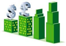 Attività bancarie finanziarie Fotografia Stock Libera da Diritti