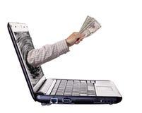 Attività bancarie in linea Fotografia Stock Libera da Diritti
