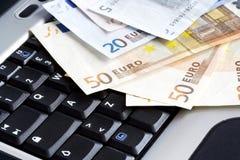 Attività bancarie in linea Fotografie Stock