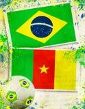 2014, attività, contro, l'Algeria, fondo, palla, Brasile, braz Fotografie Stock Libere da Diritti
