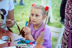 Attività dei bambini del mestiere e di arte Fotografia Stock Libera da Diritti