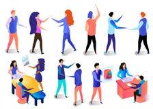 Attività dei caratteri di affari nell'insieme dell'ufficio royalty illustrazione gratis