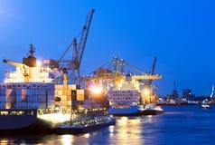 Attività del porto della città Immagini Stock Libere da Diritti
