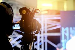 Attività del video registrazione del fotografo fotografia stock