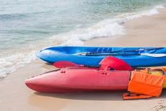 Attività della spiaggia, kayak Immagine Stock Libera da Diritti
