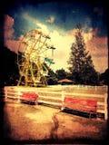 Attività di estate dell'azienda agricola del parco di divertimento Fotografia Stock Libera da Diritti