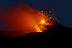 Attività di Etna Strombolian Fotografia Stock Libera da Diritti