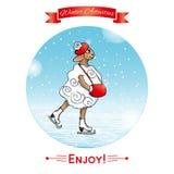 Attività di inverno, sport invernali ENV, JPG Fotografia Stock Libera da Diritti