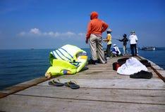Attività di pesca Fotografie Stock