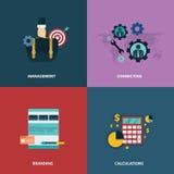 Attività di raccolta di vettore, vendita e concetti di finanza Elementi di progettazione per le applicazioni del cellulare e di w royalty illustrazione gratis