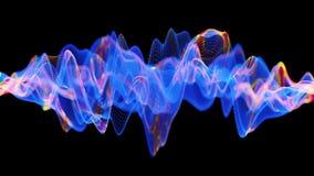 Attività di un neurone attiva della rete con le sinapsi cambianti di colore illustrazione di stock