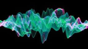 Attività di un neurone attiva della rete con le sinapsi cambianti di colore royalty illustrazione gratis