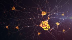 attività di un neurone 4K royalty illustrazione gratis