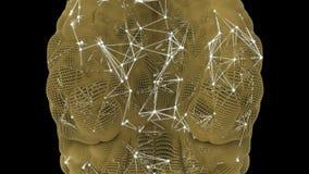 Attività di un neurone nel cervello umano illustrazione di stock