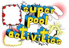 Attività eccellenti dello stagno - parole di stile del libro di fumetti royalty illustrazione gratis