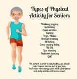 Attività fisica per gli anziani Illustrazione di vettore Royalty Illustrazione gratis